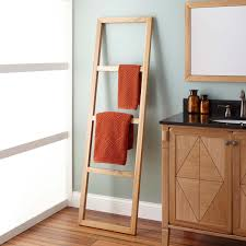 Over The Toilet Ladder Bathroom Perfect Solution For Bathroom Storage By Using Towel