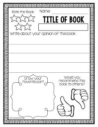 Free Printable Kids Book Report Worksheet Education World
