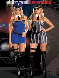 Halloween Costume Robber Discontinuedbr U003eplus Size Reversible Cops Robbers Costume