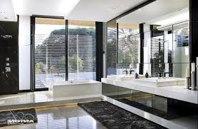 contemporary guest bathroom ideas white stained wooden frame glass