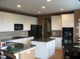 Chalk Paint Ideas Kitchen Marble Countertop And Exposed Concrete Backsplash For Small