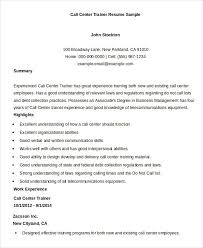 Personal Trainer Resume Example No Experience by Call Center Resume Cool Information And Facts For Your Best Call