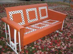 vintage porch glider make it a soft vintage mint color and this