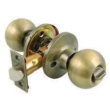 Brass Home Decor by Toledo Fine Locks Antique Brass Privacy Door Knob Lock Set