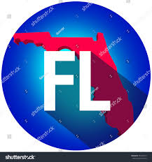 Map Of The Usa by Florida Fl Letters On 3d Map Stock Illustration 353469713