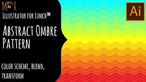 Ombre Background Illustrator For Lunch Abstract Ombre Background Color Scheme