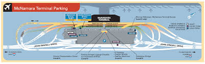 Map Of Detroit Metro Airport by Parking Scheme Near Mcnamara Terminal Of Detroit Metropolitan