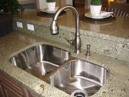 Kitchen Faucets Installation by Granite Countertop Spray Painting Laminate Cabinets Delta Single