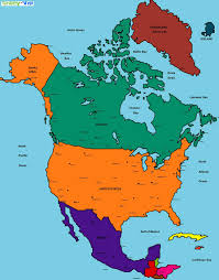 Political Map Of United States And Canada by North America Political Map Countries