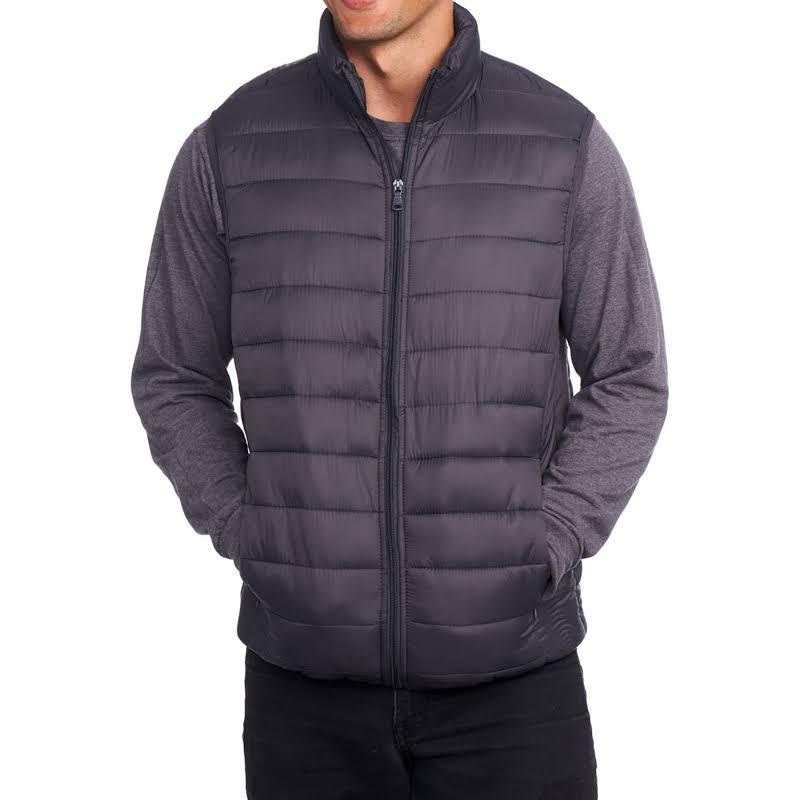 Alpine Swiss Clark Lightweight Down Alternative Vest Jacket Gray Large