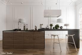 dark wood kitchen island interior design ideas