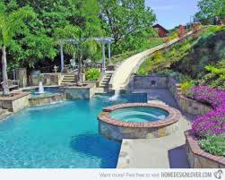 swimming pool designs with slides tropical swimming pool design