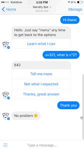 Nerdify Bot   First Facebook AI Nerd