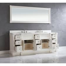 84 inch white finish double sink bathroom vanity cabinet with mirror