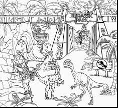 terrific jurassic world dinosaur coloring pages with jurassic park