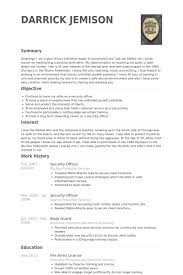 Ex Military Resume Examples by Security Officer Resume Samples Visualcv Resume Samples Database