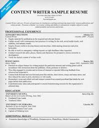 Resume For College Student Sample by Content Writer Resume Resumecompanion Com Resume Samples