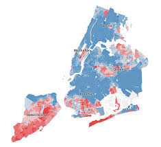 Brooklyn New York Map by See Who Didn U0027t Vote For De Blasio Maps Huffpost