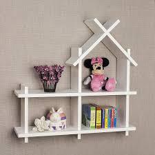 amazon com danya b house design white wall mount shelf home