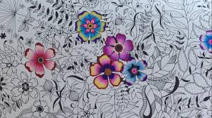secret garden basic flower coloring coloring colored