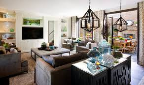 Hamptons Inspired Luxury Family Room Before And After - Family room office