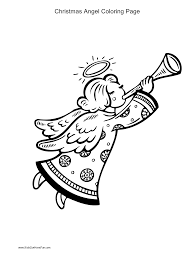 christmas angel blowing horn coloring page http www