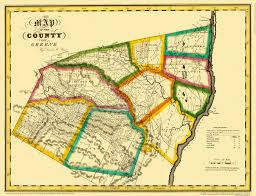 New York County Map by Old County Map Greene New York Landowner Burr 1829