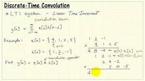 discrete time convolution sum and example youtube