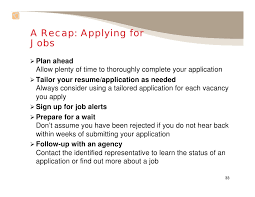 Resume Application For Job by Applying For Federal Jobs Slide Show101309