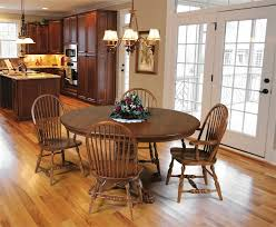 Country Style Dining Room Oak Dining Room Table And Chairs