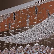 Chandelier Lighting For Dining Room Lightinthebox Luxuriant Crystal Led Flush Mount Light With 8