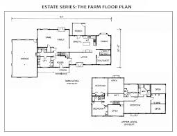 the farm log home floor plan from international homes of cedar