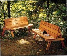 Wooden Folding Picnic Table Plans by Bench That Converts Into A Picnic Table Diy Plans For Free