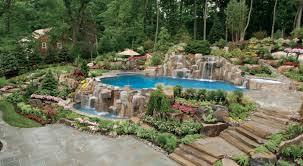 Landscaping Backyard Rustic Style Backyard Pool Party Ideas - Backyard river design