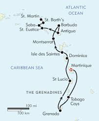 Caribbean Sea On Map by Hidden Gems Of The Caribbean Itinerary U0026 Map Wilderness Travel