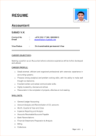 Junior Accountant Resume Sample by Indian Accountant Resume Sample Resume Sample For Junior