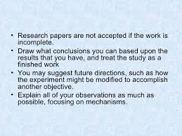 Writing the      Discussion and Analysis      SlideShare         lt ul gt  lt li gt Research papers