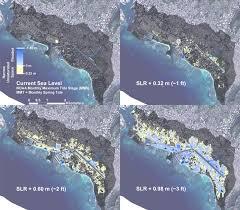 Map Of Waikiki Sea Level Rises Much Of Honolulu And Waikiki Vulnerable To