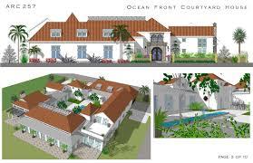 courtyard pool homes plans u2013 house design ideas