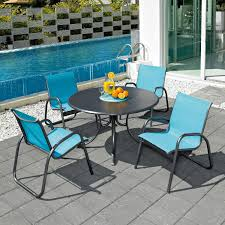 5 Pc Patio Dining Set - gardenella 5 piece aluminum patio dining set with 42 inch round
