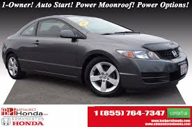 used 2009 honda civic coupe lx sr at edmundston honda 11977a