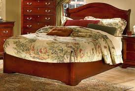 cherry finish classic low profile bed w arched headboard