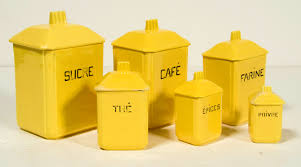 accessories awesome yellow kitchen canisters ceramic ideas