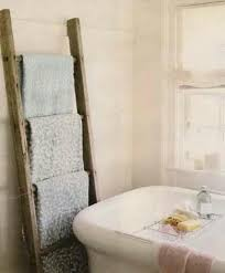 Over The Toilet Ladder How To Decorate With Vintage Ladders 20 Ways To Inspire