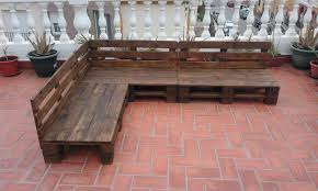 Build Wood Garden Bench by Pallet Patio Terrace Sectional Furniture Pallet Furniture Diy