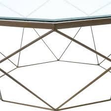 dixon geometric modern antique brass octagonal coffee table