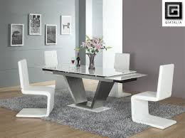 Black And White Dining Room Chairs White Leather Dining Room Set White Contemporary Dining Room Sets