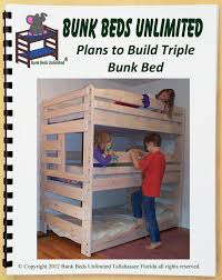 Plans For Building Bunk Beds by Triple Bunk Bed Diy Woodworking Plan To Build Your Own That Sleeps