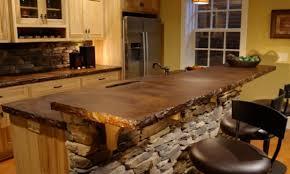 country kitchen backsplash ideas with stone wall 7323