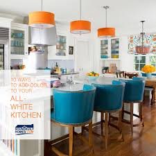 Add Kitchen Island 10 Ways To Add A Pop Of Color To Your All White Kitchen